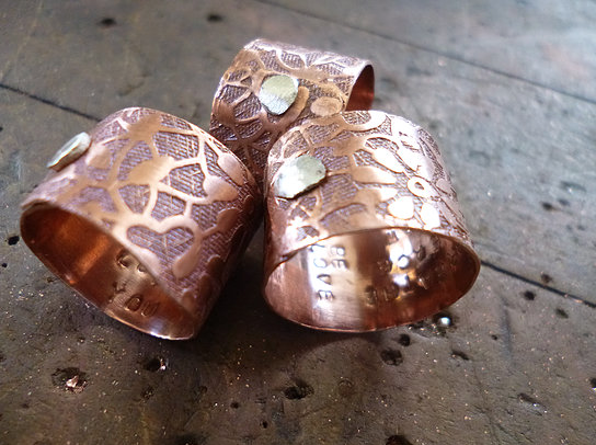 copper custom rings karen calandra