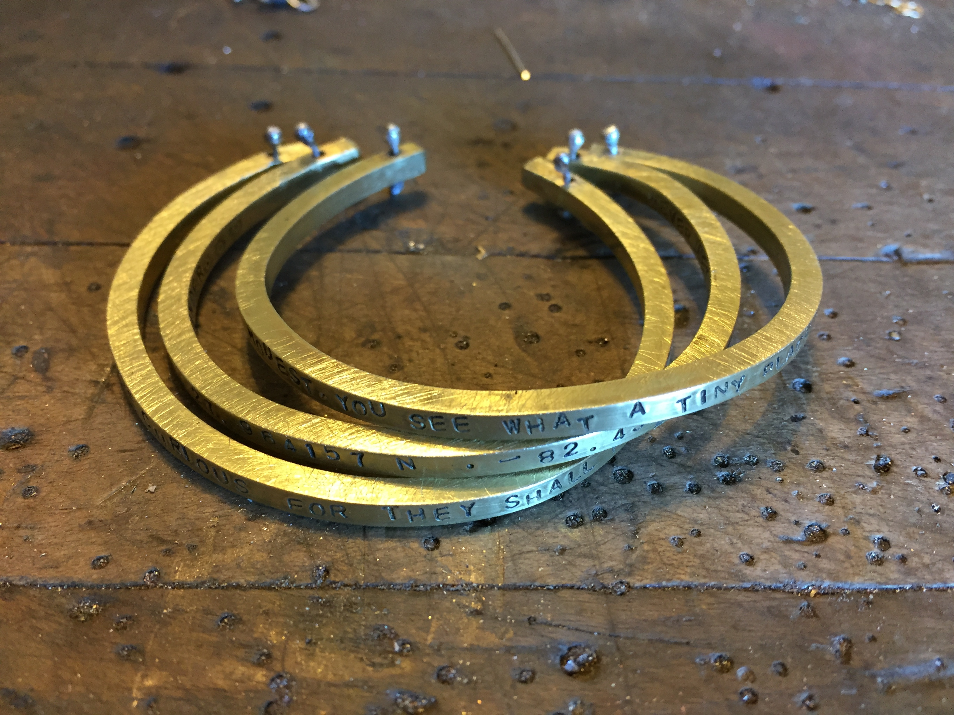 brass cuffs handmade karen calandra