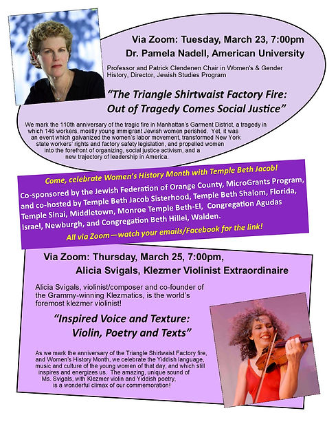Women's History Month - March 2021 flyer