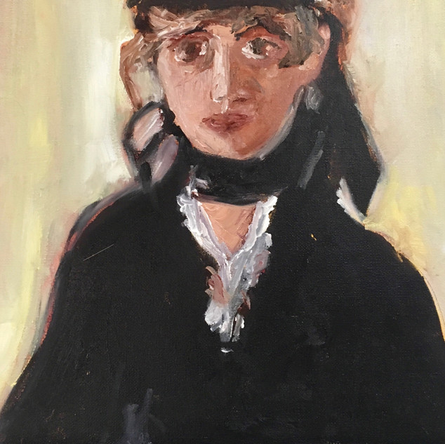 """WOMAN IN HAT"" BY MANET"
