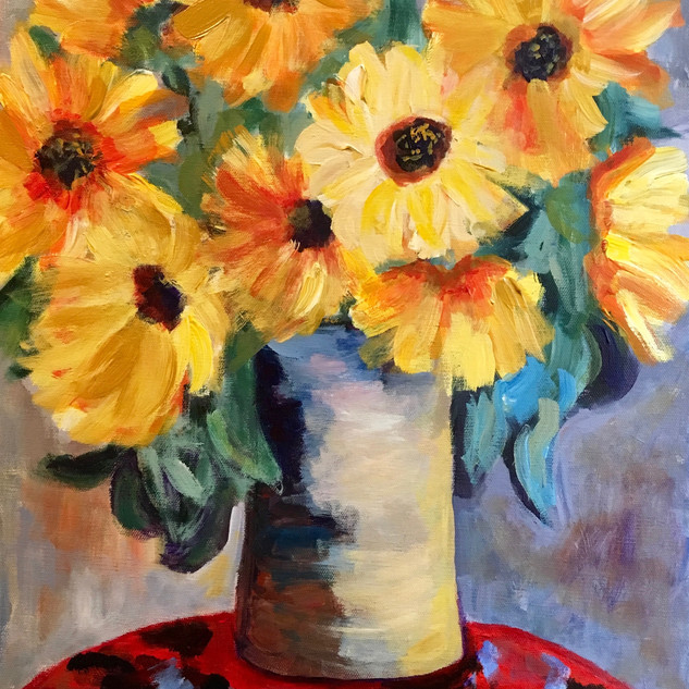 """SUNFLOWERS IN A VASE"" BY MONET"