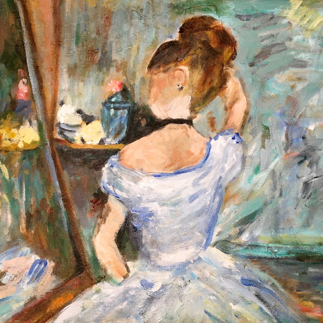 """""""WOMAN AT HER TOILETTE"""" BY MORISOT"""