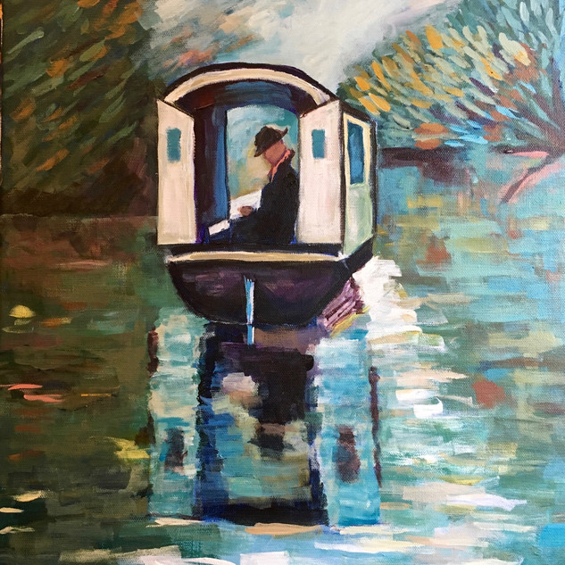 """""""THE STUDIO BOAT"""" BY MONET"""