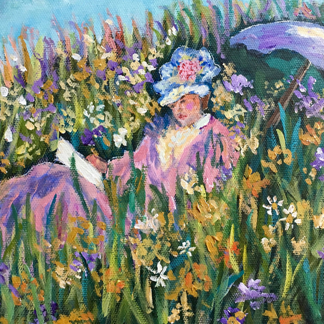"""""""IN THE MEADOW"""" BY MONET"""