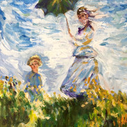 """""""WOMAN WITH A PARASOL"""" BY MONET"""