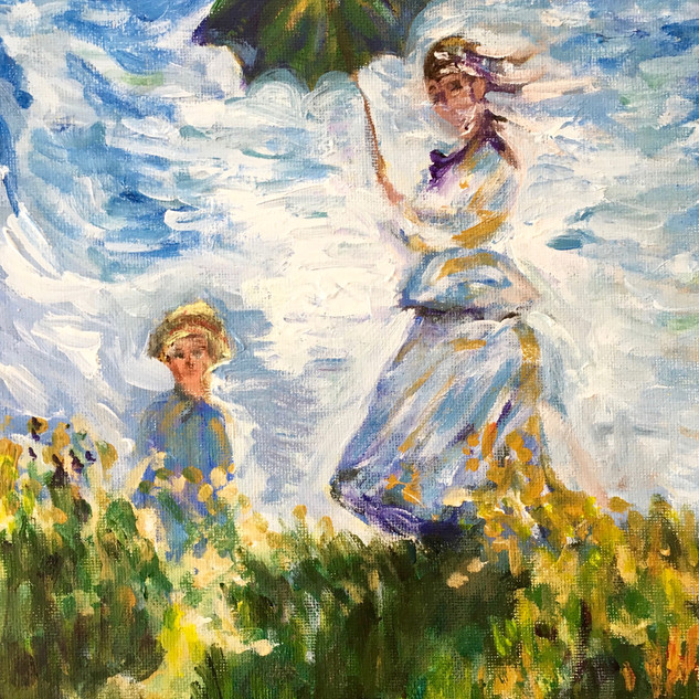 """WOMAN WITH A PARASOL"" BY MONET"