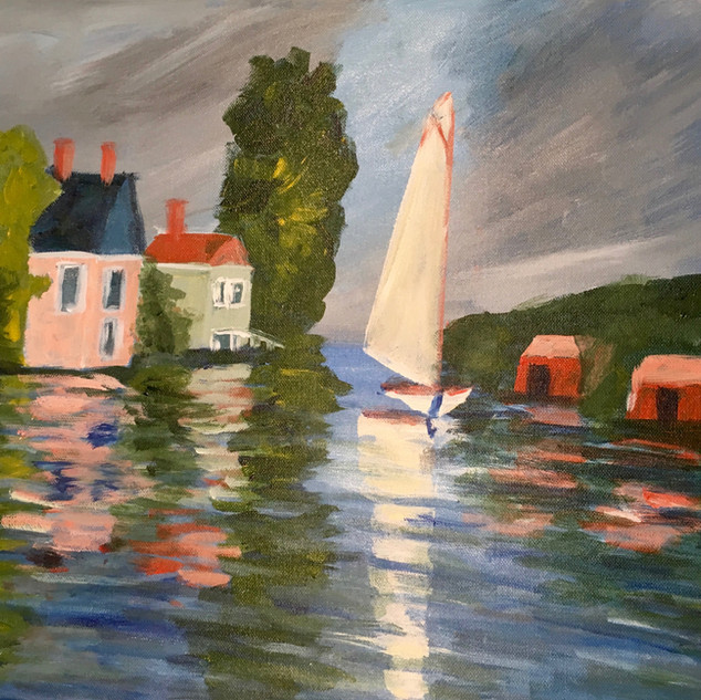 """HOUSES ON THE WATER"" BY MONET"