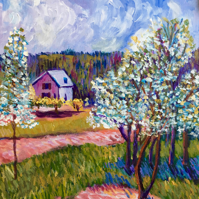 """APPLE BLOSSOMS OUTSIDE OF PARIS"" BY SISLEY"