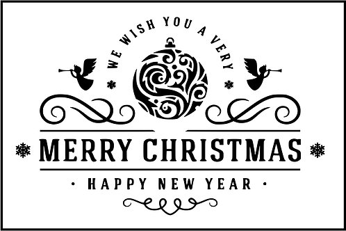 WE WISH YOU A MERRY CHRISTMAS PLAQUE