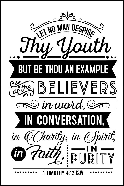 LET NO ONE DESPISE YOUR YOUTH