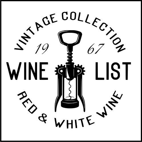 VINTAGE WINE BADGE