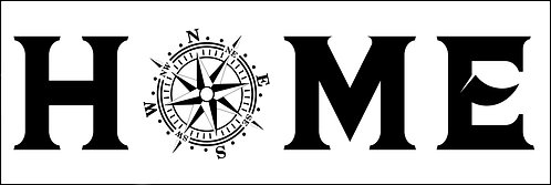 HOME WITH COMPASS ROSE