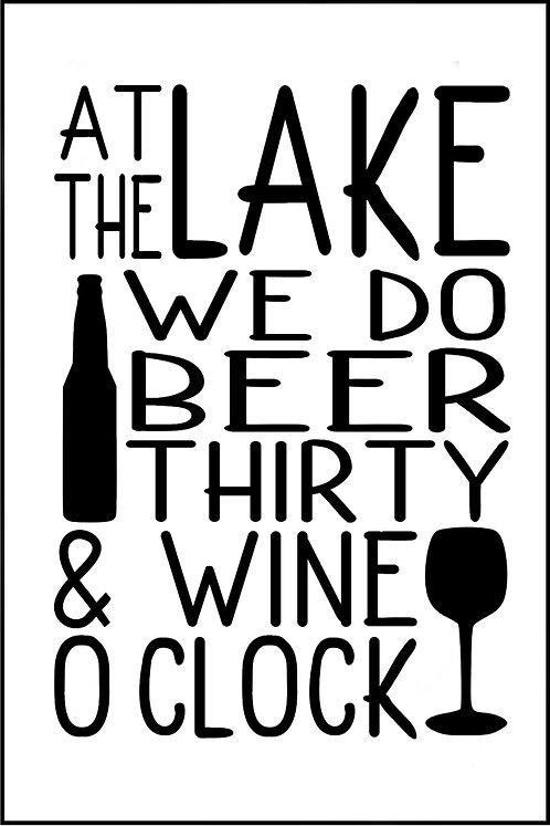 AT THE LAKE WE DO