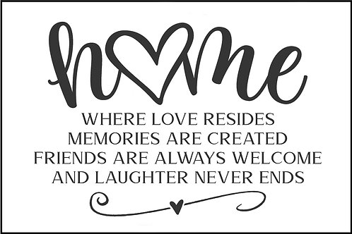 HOME WHERE LOVE RESIDES