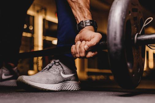 Lifting weights...