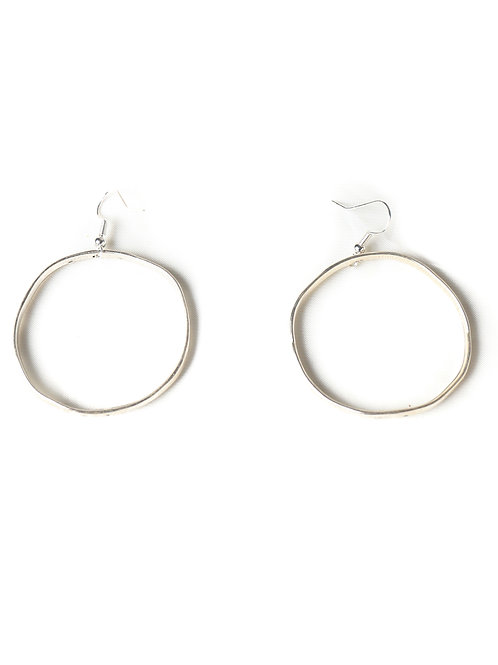 SILVER HOOPS MEDIUM SIZE