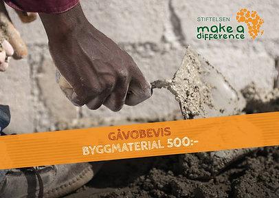Gåvobevis | Byggmaterial 500kr