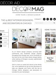 DECORAID - Top 15 Interiors Designers In Chicago