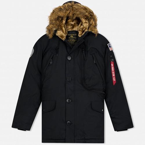 66a3440f Alpha Industries Мужская куртка парка Polar Black