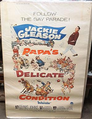 1950s-60s Movie Poster - Papas Delicate Condition