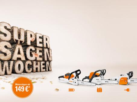 SUPER SÄGEN, SUPER ANGEBOTE!