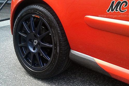 RENAULT CLIO 172 / 182 CARBON FIBRE SIDE SKIRT SPATS
