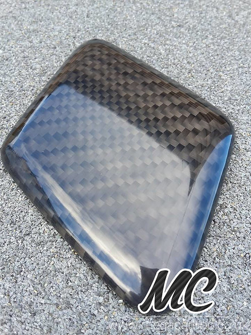 FORD FOCUS ST CARBON FIBRE HEADLAMP WASHER JET COVERS 2008-2011 FACELIFT