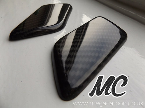 FORD FOCUS ST CARBON FIBRE HEADLAMP WASHER JET COVERS MK2 2005-2008