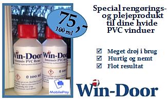 Win-Doors egen rengøringsmiddel til PVC-vinduer