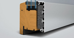SL97 træ/alu foldedør profiler