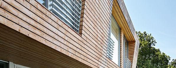 Træ facade
