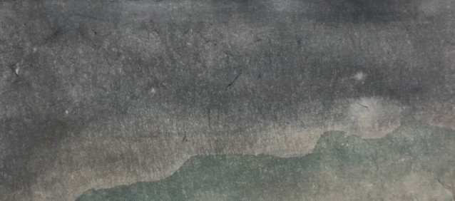 Starry Night, 2019, Watercolour on hanji paper, 29*13