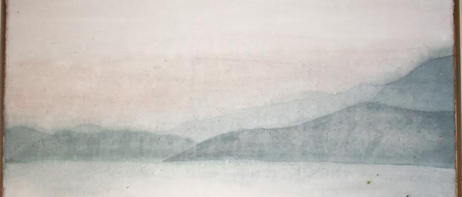Untitled, 2021, Watercolour on hanji, 75*47