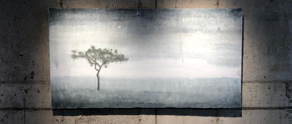 Solitude, 2018, Watercolour on hanji, 142*75