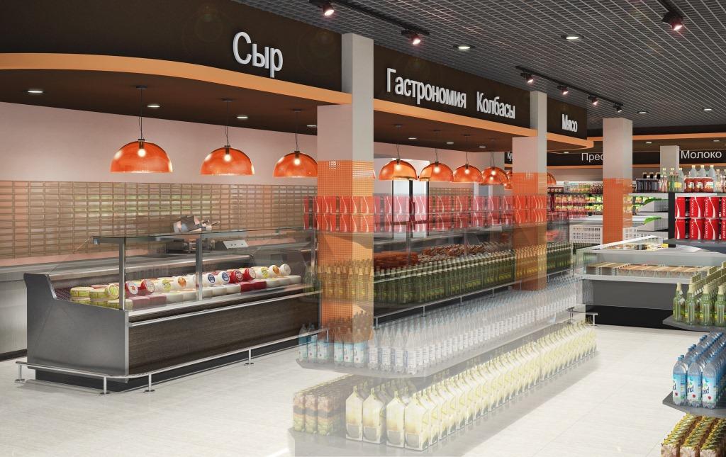 """Дизайн супермаркета """"Провиант"""""""