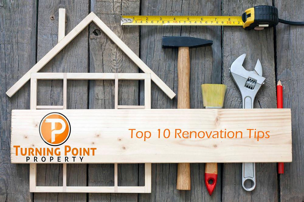 Top 10 Renovation Tips Heading
