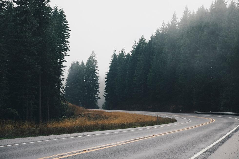Slingrande väg