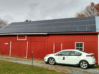 Old Barn is now a 13.5kW Solar Power Plant in Lebanon, PA