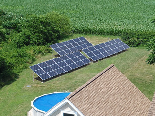 18 kW Solar Ground array in Northumberland, PA