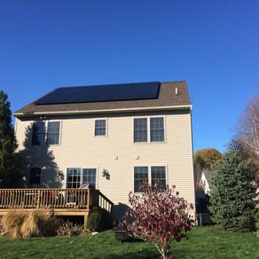 7KW Black Solar panel array