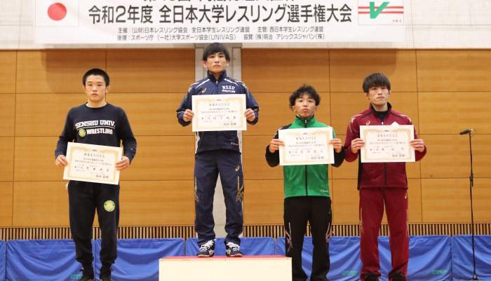 2020年内閣総理大臣杯全日本大学選手権 フリー57kg 荒木大貴(玉名工/専修大4)が惜しくも準優勝