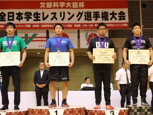 【全日本学生選手権】グレコローマン・隈部吉伸(九共大/玉名工)が87㎏級で3位入賞
