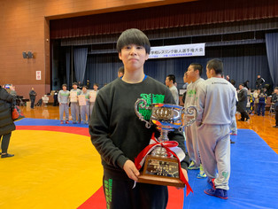 【全九州高校選抜】(女子の部)50㎏級で大野真子(北稜高)が女子の部MVPを獲得、72㎏級 山田紗代(北稜高)が優勝