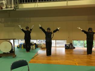 【熊本県高校総体】団体戦初出場の済々黌高校は応援団も駆けつけ会場を賑わす