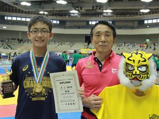 【全国少年少女選手権・特集】6年最後の夏に初めての全国チャンピオンに!…6年男子55kg級、井上輪太郎(タイガーキッズ)(H29.07.23)
