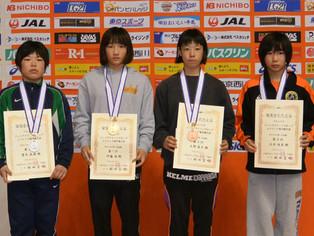 【クイーンズカップ】大野真子(玉名中)、吉川かりん(北稜高)がカデットで3位入賞