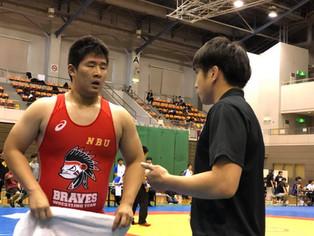 【西日本学生新人戦】上野志信(北稜高/日本文理2)が両スタイルで準優勝