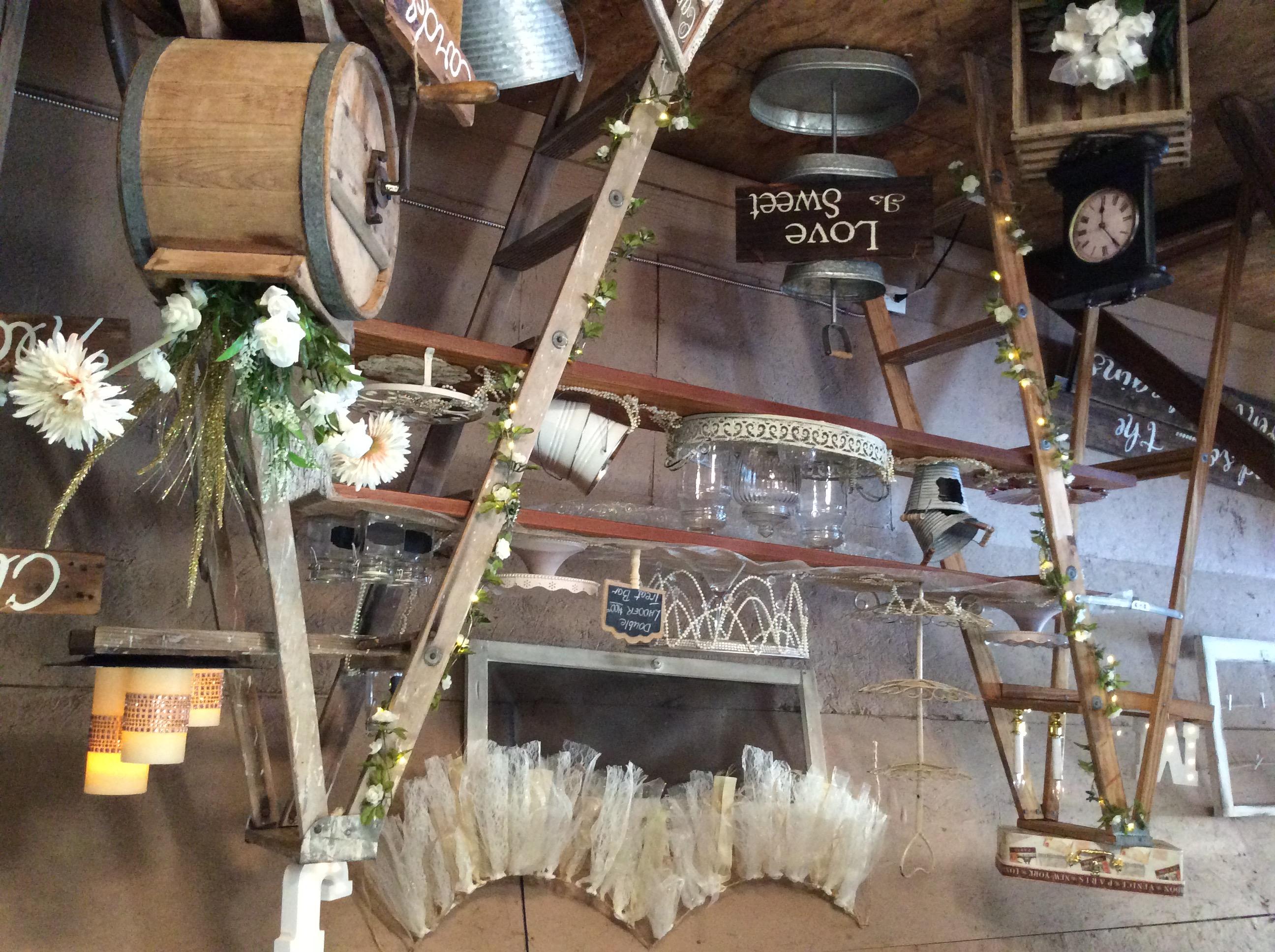 Ladders & butter churn