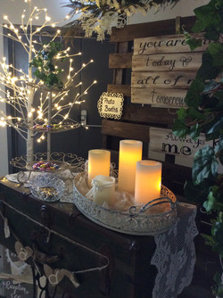 Lighted Trees and Candles