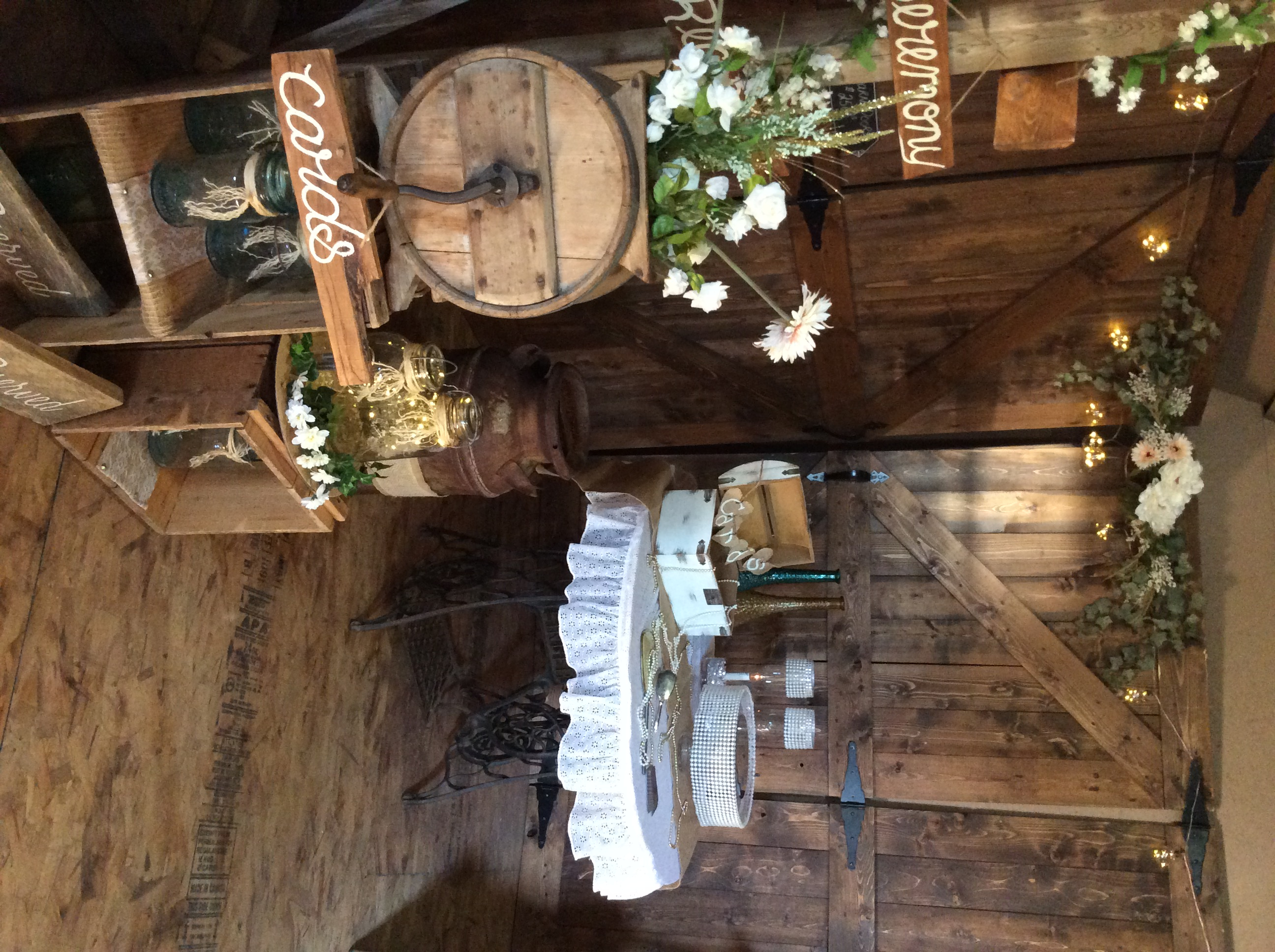 Backdrop Table & Butter Churn